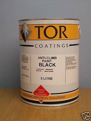 Tor Anti Vandal Climb Security Paint Black 5 Litre • 54.99£