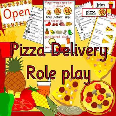 Pizza Shop And Delivery Role Play Resources TO PRINT - EYFS KS1 Primary • 3£