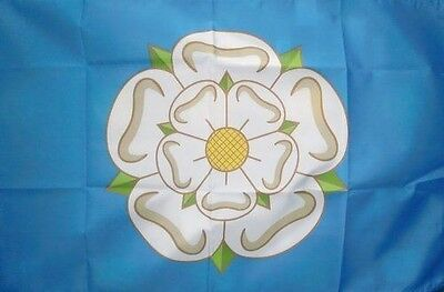 5' X 3' Yorkshire Flag White Rose English County Flags Banner • 6£