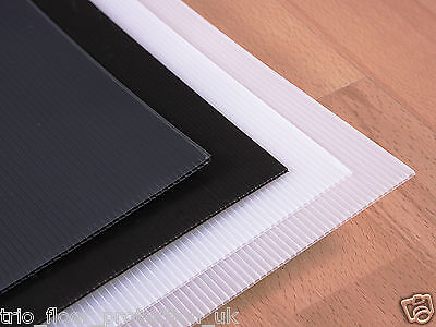 £45 • Buy Correx Corrugated Plastic Floor Protection Sheets X 10 Black  MADE IN UK BEST !