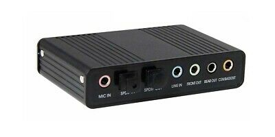 USB 5.1 Multi-Channel Surround Sound Adapter With Optical Audio Input Output • 14.25£