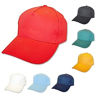 Mens Or Womens Baseball Cap Adjustable Sun Hat Sport Cap Peaked Summer Caps New • 3.49£