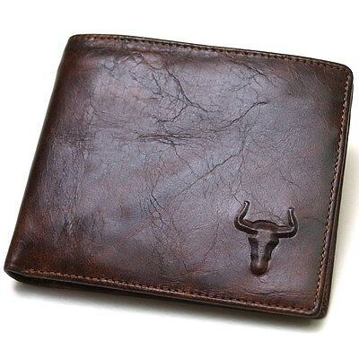 $ CDN21.72 • Buy New Genuine Leather Mens Wallet  ZIPPER Coin Purse Vintage Retro Style