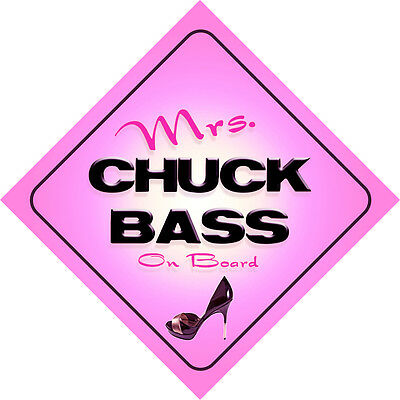 £3.99 • Buy Mrs Chuck Bass On Board Baby Pink Car Sign