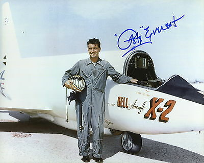 £56.78 • Buy PETE EVEREST HANDSIGNED 8x10 COLOR PHOTO+COA   GREAT TEST PILOT     AWESOME+RARE