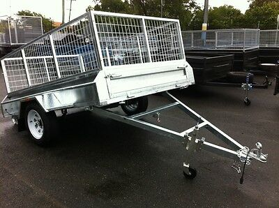 AU1895 • Buy 8x5 TILT NEW HEAVY DUTY CAGED BOX TRAILER TAKE HOME TODAY !  - ALL SIZES AVAIL
