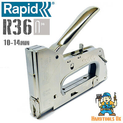 £44.99 • Buy Rapid  Heavy Duty R36 Cable Tacker / Stapler / Staple Gun - Electrical Stapler