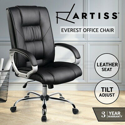 AU139.95 • Buy Artiss Executive Office Chair Gaming PU Leather Chairs Computer Seating Black
