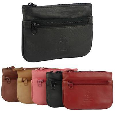 $15.24 • Buy Mens Ladies Quality Leather Coin Purse By Visconti Keys Zip Change 5 Colours