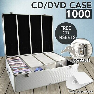 AU85.95 • Buy Aluminium CD DVD Bluray Storage Case Box Lock 1000 Discs SL Holds Folder
