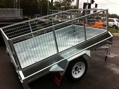 AU1695 • Buy 7x4 New H.duty Caged Box Trailer Drive Away Today!
