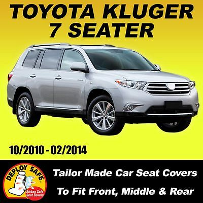 AU175 • Buy Car Seat Covers For Toyota Kluger 7 Seater, 3 Rows 10/2010-02/2014 Airbag Safe