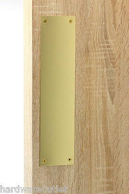 £5.83 • Buy  Victorian Polished BRASS FINGER PLATE Push Plate 300 X 75 X 0.9 Mm Made In 🇬🇧
