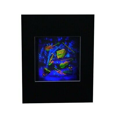 £21.59 • Buy 3D Musical Instruments LARGE Hologram Picture MATTED, Collectible Embossed Type