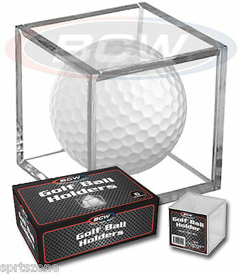(1) BCW Golf Ball Display Cube Square Stackable Holder Auto Autograph • 3.82£