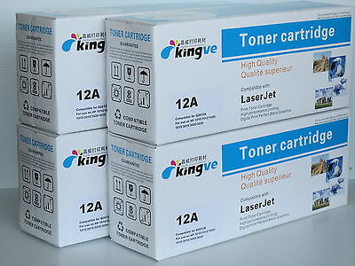 $ CDN62.99 • Buy 4 PK Compatible LaserToners For HP 12A (Q2612A) Fits HP 1012 1022 3020 12A
