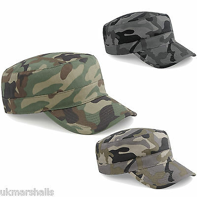 £3.28 • Buy Beechfield Adults Camouflage Army Hat Baseball Peak Camo Urban Military Cap BB33