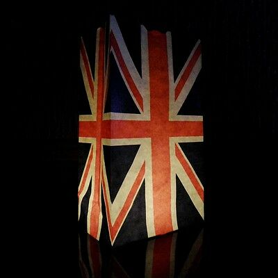 £3.99 • Buy Union Jack Candle Bags - Pack Of 5 Paper Luminary Lantern Bags With A UK Flag