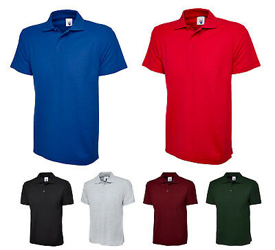 £6.99 • Buy Mens Lightweight Polo T Shirt Size XS To 4XL SPORTS WORK & CASUAL POLO SHIRTS