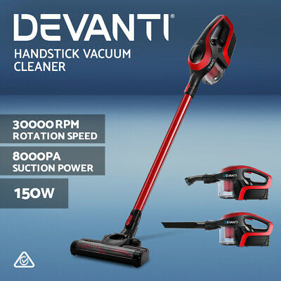 AU99.90 • Buy Devanti Handheld Vacuum Cleaner Cordless Bagless Stick Handstick Vac Recharge