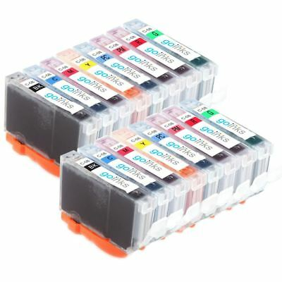 £15.85 • Buy 16 Ink Cartridge (Set) To Replace Canon CLI-8 For Pro 9000 & Pro 9000 Mark II