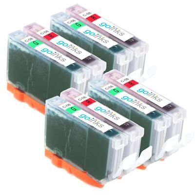 £9.65 • Buy 8 Ink Cartridges To Replace Canon CLI-8R & CLI-8G (Red/Green) For Pro 9000