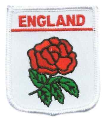 England Lancashire Red Rose Embroidered Patch Badge With Free Uk Postage • 6£