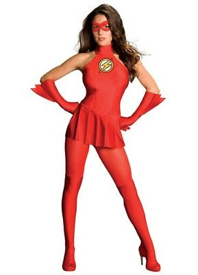£36.34 • Buy Womens Adult Sexy THE FLASH Red Dress Costume Outfit