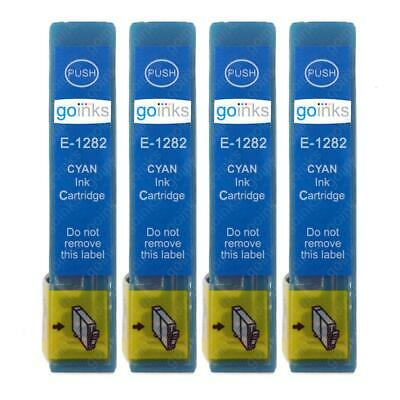 £7.18 • Buy 4 Cyan Ink Cartridges Non-OEM To Replace T1282 (Fox) Compatible For Printers