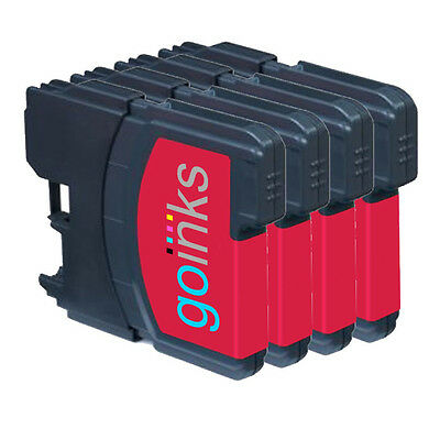 £5.10 • Buy 4 Magenta Ink Cartridges Compatible With Brother DCP-165C MFC-250C DCP-6690CW