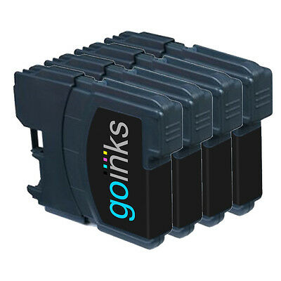 £5.30 • Buy 4 Black Ink Cartridges Compatible With Brother DCP-165C MFC-250C DCP-6690CW