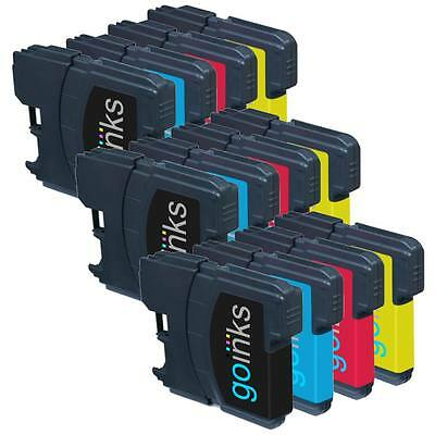 £8.55 • Buy 12 Ink Cartridges (Set) Compatible With Brother DCP-165C MFC-250C DCP-6690CW