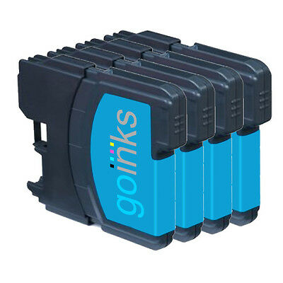 £5.10 • Buy 4 Cyan Ink Cartridges Compatible With Brother DCP-165C MFC-250C DCP-6690CW