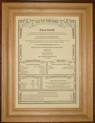 60th 65th Different Personalised Birthday Scroll Gift • 2.99£