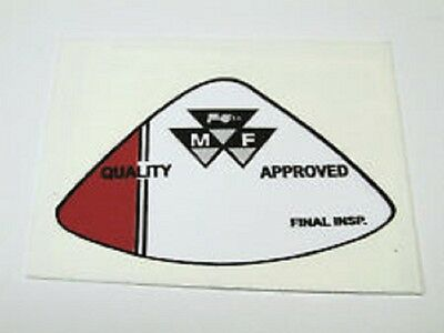 £4.95 • Buy Massey Ferguson Quality Approved Final Inspection Decal