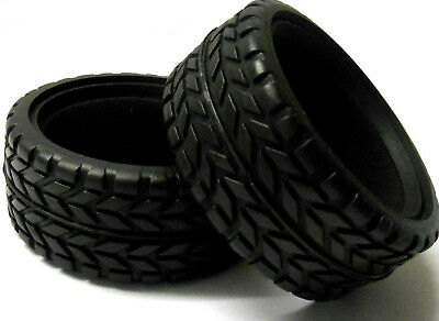 450890 1/10 Scale On Road Rubber Tyres X 2 Includes Foam Inserts 62mm Inlay • 6.99£