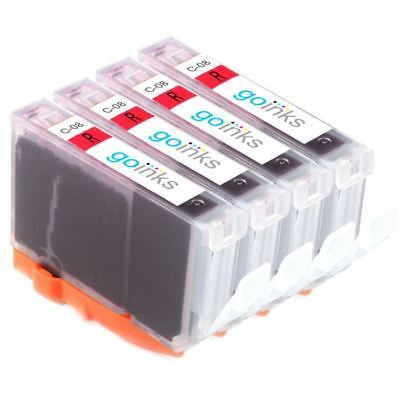£6.55 • Buy 4 Red Ink Cartridges To Replace Canon CLI-8R For PIXMA Pro 9000 & Mark II (MK2)