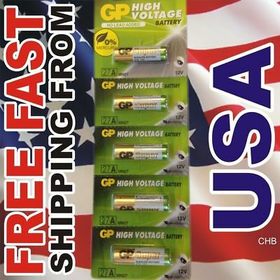 AU11.78 • Buy 5 Pc GP 27A MN27 GP27A L828 A27 12v Battery Mercury FREE Expiration Date 2021