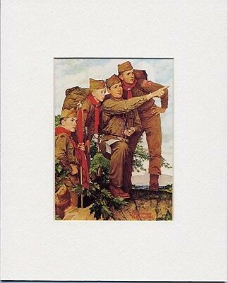 $ CDN18.19 • Buy Norman Rockwell Boy Scout Print POINTING THE WAY 1962