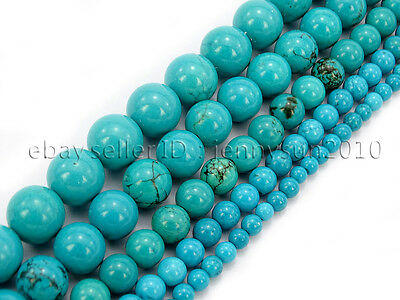 $ CDN3.48 • Buy Stabilized Turquoise Gemstone Round Beads 16'' 2mm 3mm 4mm 6mm 8mm 10mm 12mm