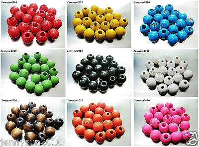 $ CDN2.82 • Buy 100pcs Round Wood Ball Spacer Loose Beads 4mm 6mm 8mm 10mm 12mm 14mm 16mm Pick