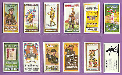 £2.99 • Buy Victoria Gallery - Set  Of  12  Wills  ' Recruiting  Posters '  Cards  (repros)