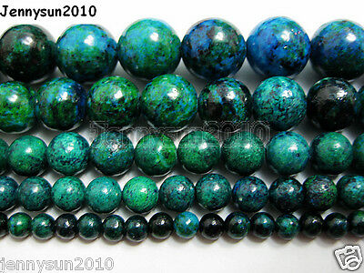 $ CDN2.43 • Buy Synthetic Chrysocolla Gemstone Round Loose Beads 16'' 4mm 6mm 8mm 10mm 12mm