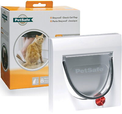 Staywell Petsafe 917 4 Way Locking Cat Flap Cat Door Tunnel Up To 60mm Thick • 16.99£