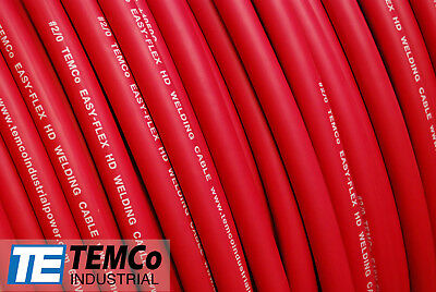 $ CDN41.19 • Buy WELDING CABLE 2 AWG RED 15' FT BATTERY LEADS USA NEW Gauge Copper Solar