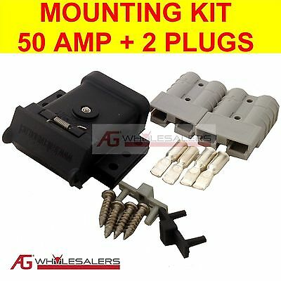AU21 • Buy Anderson Plug Mounting Kit 50a With 2 Plugs Mount System Cover Dust Cap External