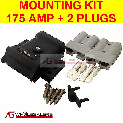 AU43.50 • Buy Anderson Plug Mounting Kit 175a & 2 Plugs Mount System Cover Dust Cap External