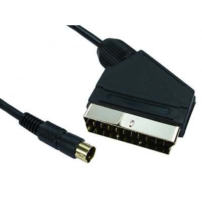 0SCART To SVIDEO SVHS S-VHS S-Video Lead Video DVD - PC 1M 1 Metre Black GOLD • 2.47£