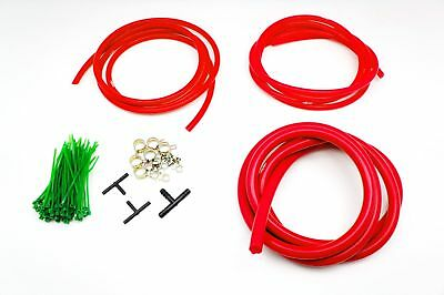 AU36.19 • Buy Silicone Vacuum Hose Assorted RED Kit 3/4/8mm Clamp Set Fit Korean