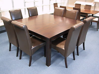 AU899 • Buy Solid Hardwood Sq. Ext. Table With Easy Clean Chairs